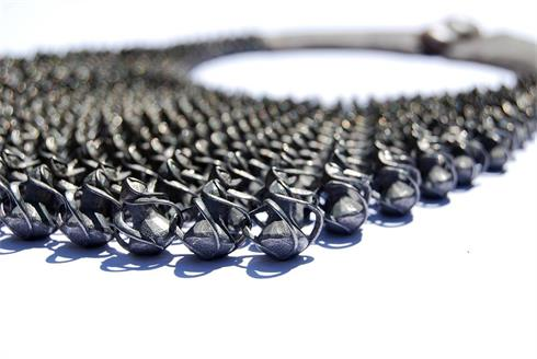 Titanium multi-link necklace
